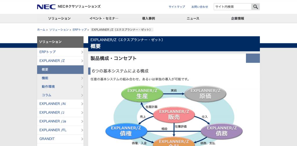 EXPLANNER/Z(エクスプランナー・ゼット)_NECネクサソリューションズ株式会社